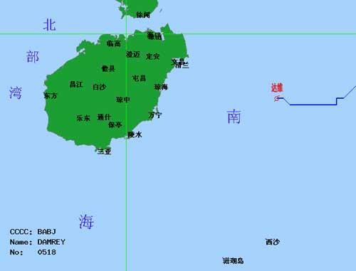 海南在线新闻中心 海南省气象台发布 达维 最新动态天气预报 -海南省